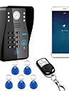 720p draadloos wifi rfid wachtwoord video deurtelefoon deurbel intercom systeem nachtzicht waterdichte camera met regenhoes