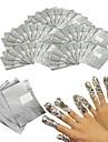 100ks Ekologický materiál Pro Multifunkční / Nejlepší kvalita Bílá série nail art manikúra pedikúra stylové / Moderní Denní