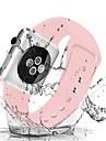 Watch kapela pro Apple Watch Series 4/3/2/1 Apple Sportovní značka / Klasická spona Silikon Poutko na zápěstí