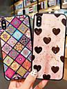 Pouzdro Uyumluluk Apple iPhone XS / iPhone XS Max Şoka Dayanıklı / Toz Geçirmez / Temalı Arka Kapak Kalp / Geometrik Desenli Yumuşak TPU için iPhone XS / iPhone XR / iPhone XS Max