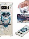 ケース 用途 Samsung Galaxy Note 9 / Note 8 耐衝撃 / リキッド / クリア バックカバー フクロウ / キラキラ仕上げ ソフト TPU のために Note 9 / Note 8