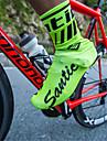 SANTIC للبالغين أغطية أحذية الدراجة مقاوم للماء مكافح الانزلاق أحمر أخضر / الدراجة أخضر أسود أحمر للجنسين أحذية الدراجة