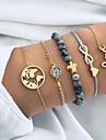 5pcs Γυναικεία μικροσκοπικό διαμάντι Βραχιόλι με χάντρες Vintage Βραχιόλια Σκουλαρίκια / βραχιόλι Στρας Βίντατζ Ευρωπαϊκό Etnic Μοντέρνα Βραχιόλια Κοσμήματα Χρυσό Για