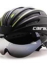 CAIRBULL Yetişkinler Gözlüklü ile Bisiklet Kaskı Aerodinamik Kask 28 Delikler CE EN 1077 Darbeye Dayanıklı Havalandırma Böcek Ağı EPS PC Spor Dalları Yol Bisikletçiliği - Kırmzı Yeşil Mavi